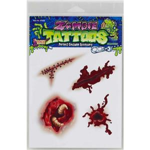 Zombie Temporary Tattoos Gory
