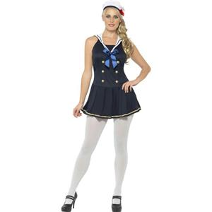 Sailor Girl Sexy Navy Blue Adult Costume Size Medium