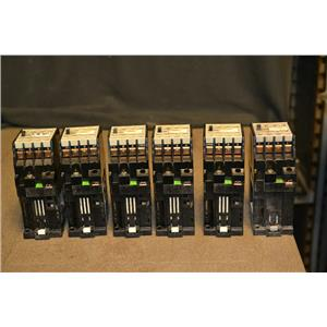 (Lot of 6) Siemens 3TH8022-0B Contactor 24VDC Coil