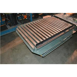 """Hytrol Manual Conveyor Turntable, 53"""" Long, 43"""" Wide, 33"""" Long Rollers"""