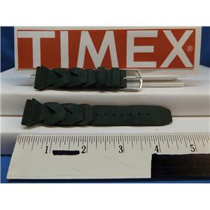 Timex Watch Band Braided Green 20mm Expedition Indiglo Leather Strap Mens