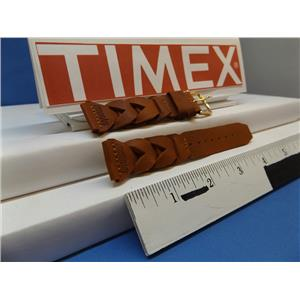 Timex Watch Band Braided Lite Brown 20mm Expedition Indiglo Leather Strap Mens