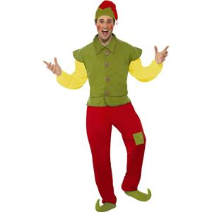 Smiffy's Cool Yule Christmas Elf Mens Costume Adult Size Large