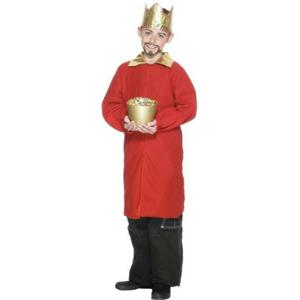 Smiffy's Red Nativity King Wiseman Child Christmas Costume Cape Crown Size Small