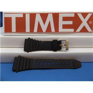 Timex Watch Band Magnum Black Watchband. Resin Man's Strap.
