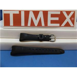 Timex Watch Band T53161A.All Black Ladies Strap for 30 Lap Ironman.Caseback #655