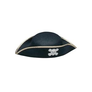 Jacobson Hats Child Pirate Costume Hat with Gold Trim