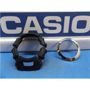 Casio Watch Parts GW-2310 Bezel Set: Inner and Outer Black and Silver. Shell