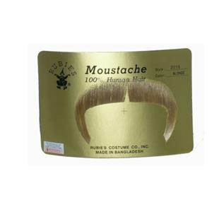 Blonde 100% Human Hair Zapata Fu Manchu Mustache 2016