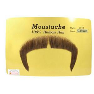 Light Brown 100% Human Hair Zapata Fu Manchu Mustache 2016