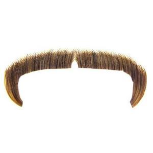 Medium Brown 100% Human Hair Zapata Fu Manchu Mustache 2016