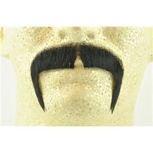Black 100% Human Hair Zapata Fu Manchu Mustache 2016