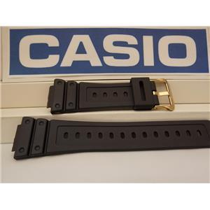 Casio Watch Band DW-5600 EG-9, DW-5600 P-1 Strap W/Gold Tn Bkl.G-Shock Watchband