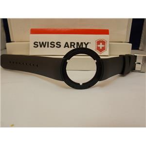 Swiss Army Watch Band 24075 Black Rubber Strap. Seaplane Chronograph model 24075