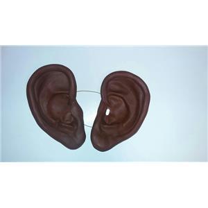 "8"" Super Jumbo Really Big African Brown Black Soft Vinyl Ears Costume Accessory"