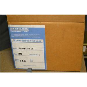 *NOS* Sterling Worm Speed Reducer, 154BQ020561, 20:1, Ratio, 0.646 HP, 56C Frame