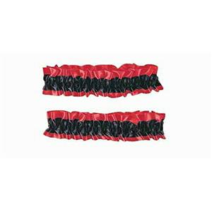 Red and Black Satin Old Fashioned Garter Flapper Arm Bands