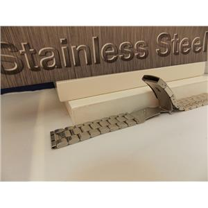 Steel Watchband/Bracelet 22mm Heavy Solid Linked w/Push Button Buckle.
