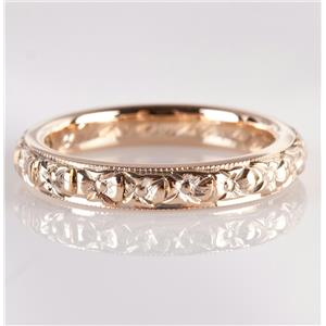 Vintage 1920's 18k Yellow Gold Engraved Wedding / Anniversary Band