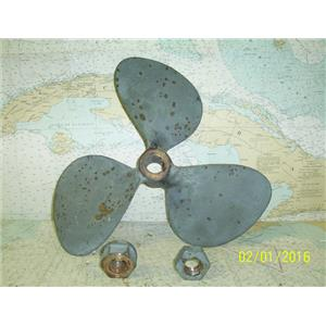 "Boaters' Resale Shop Of Tx 1601 1424.12 BRONZE 3 BLADE 17RH12 PROP(1-3/8"" SHAFT)"