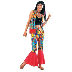 Women's Flower Power 60's Hippie Adult Costume Standard Size