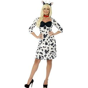 Smiffy's Women's Cow Adult Costume Dress Headband and Choker Size XS 2-4