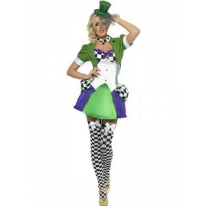Smiffy's Women's Mad Hatter Fever Miss Hatter Costume Size Small 6-8