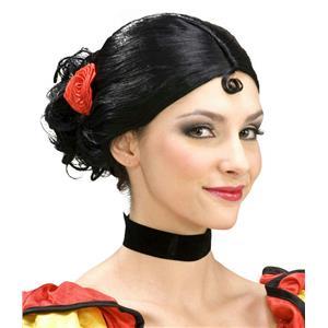 Forum Novelties Women's Spanish Senorita Black Costume Wig