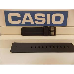Casio Watch Band MW-59, MW-60 16mm Black Rubber Strap. Original Watchband