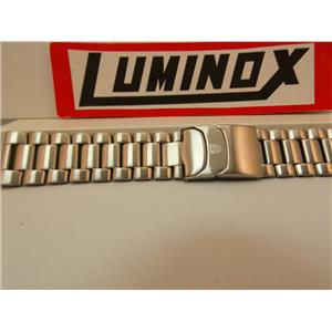 Luminox Watch Band 3152 Bracelet 23mm Silver Tone Solid Linked Stainless Steel