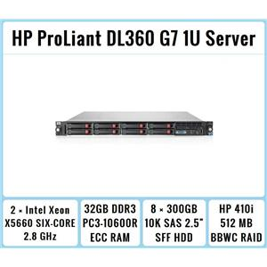 HP ProLiant DL360 G7 1U Server 2xSix-Core Xeon 2.8GHz + 32GB RAM + 8x300GB RAID