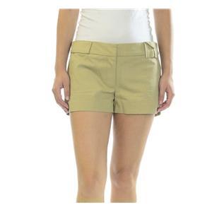 Sz 4 NEW Elizabeth & James Khaki Tan Flat Front Eliza Dress Shorts LP027-136L