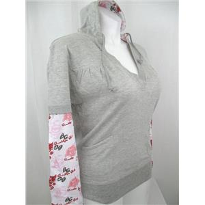 Brooklyn Girl Size 1X Gray Pull Over Hoodie w/Contrasting Hood Lining & Sleeves