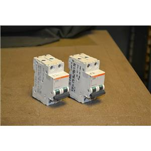 (LOT OF 2) Merlin Gerin D 20A Circuit Breaker, Cat. Number 24526, 2 Pole