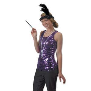 20's Black Flapper Headband & Beads Set Costume Accessory Kit