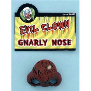 Evil Clown Gnarly Nose Costume Accessory