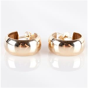 14k Yellow Gold Petite Hoop Earrings W/ Butterfly Backs 4.3g