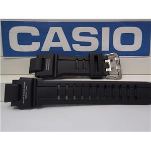 Casio Watch Band GA-1100 -1A Black Rubber Strap G-Shock Twin Sensor. Watchband