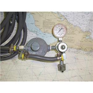 Boaters' Resale Shop of Tx 1603 0253.05 CNG REGULATOR WITH USG GAUGES AND HOSES