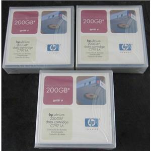 3 x New Sealed HP C7971A LTO1 Ultrium Data Cartridges 200GB