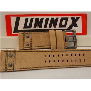 Luminox Watchband 26mm Atacama Light Tan Leather w/Outline Stitching