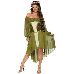 Tales of Old England Fair Maiden Sexy Dress and Flower Halo Costume Medium 10-12