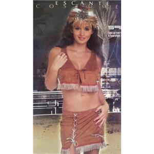 Escante Women's Indian Maiden Squaw Sexy 3 Piece Adult Costume Size Large