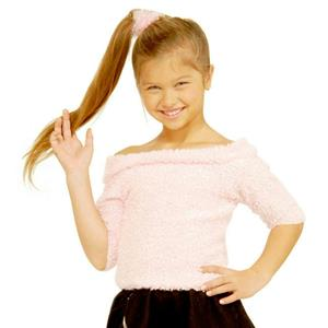 Forum Girl's 1950's Pink Fifties Sock Hop Costume Child Top Size Medium 8-10