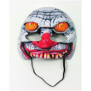 Forum Novelties Swirl Eyes Evil Clown Half Face Mask