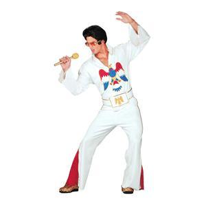 Men's Authentic Elvis Presley White Jumpsuit Adult Costume