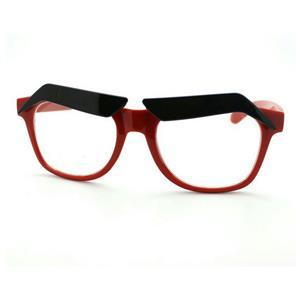Red Frame Funny Black Eyebrows Eyeglasses Clear Lens Novelty Cartoon