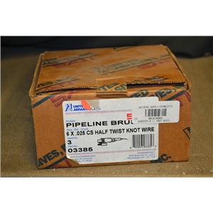 "(Box of 3) United Abrasives 03385 6"" X .025 Half Twist Knot Wire"