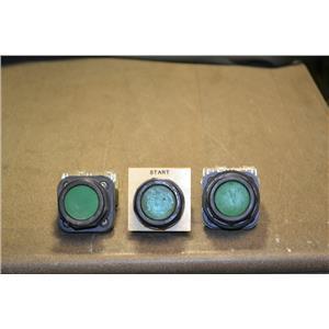 (Lot of 3) Allen-Bradley 800H-AR Ser. F GREEN Pushbuttons