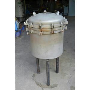 """Sparkler Horizontal Plate Filter - 18"""" Diameter, W0 18D8, 304 Stainless Steel"""